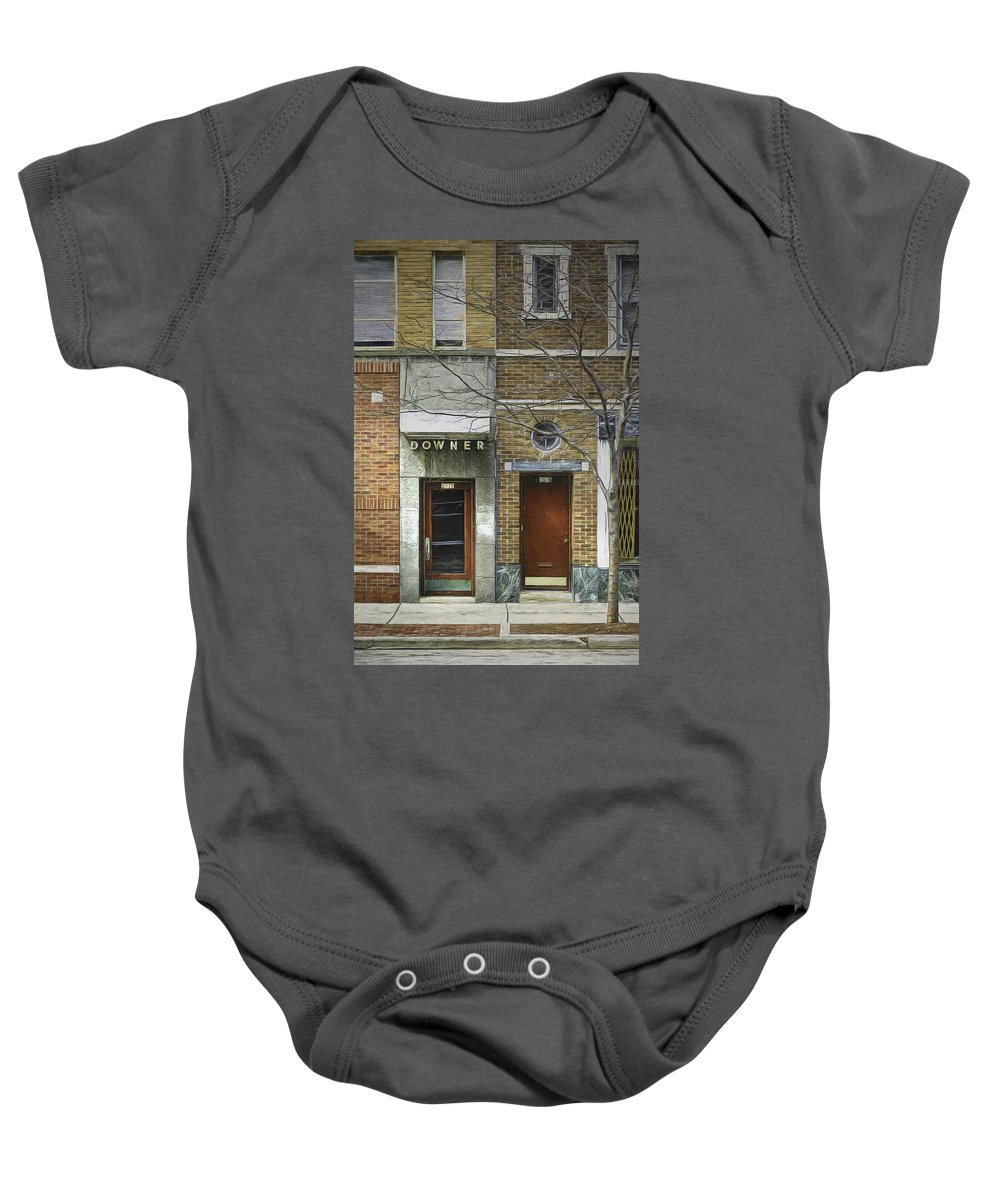 City Baby Onesie featuring the photograph Downer by Scott Norris