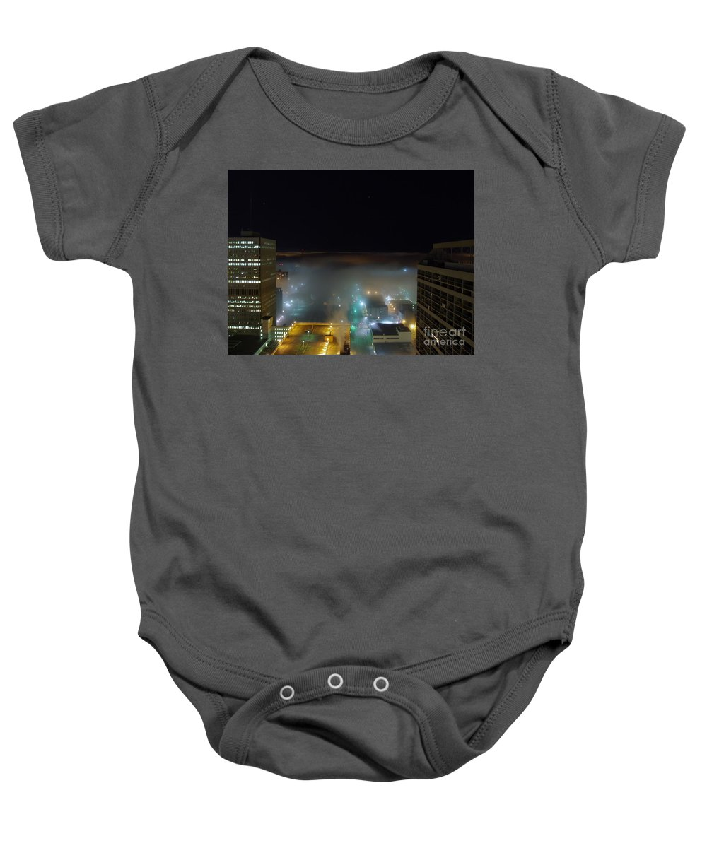 Photograph Baby Onesie featuring the photograph downtown Calgary2 by Seon-Jeong Kim