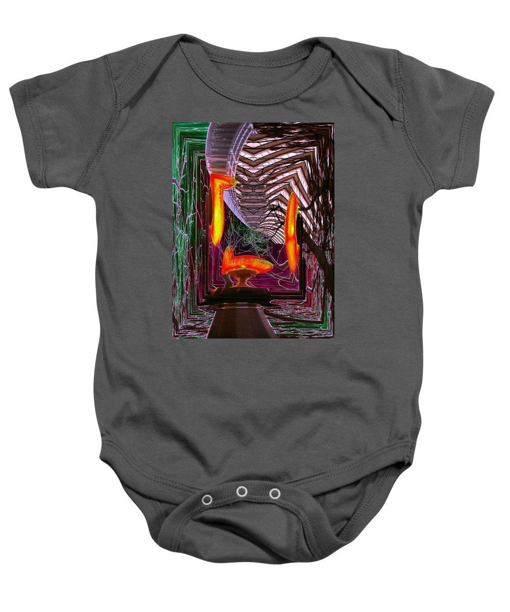 Seattle Baby Onesie featuring the photograph Downtown Light Warp by Tim Allen