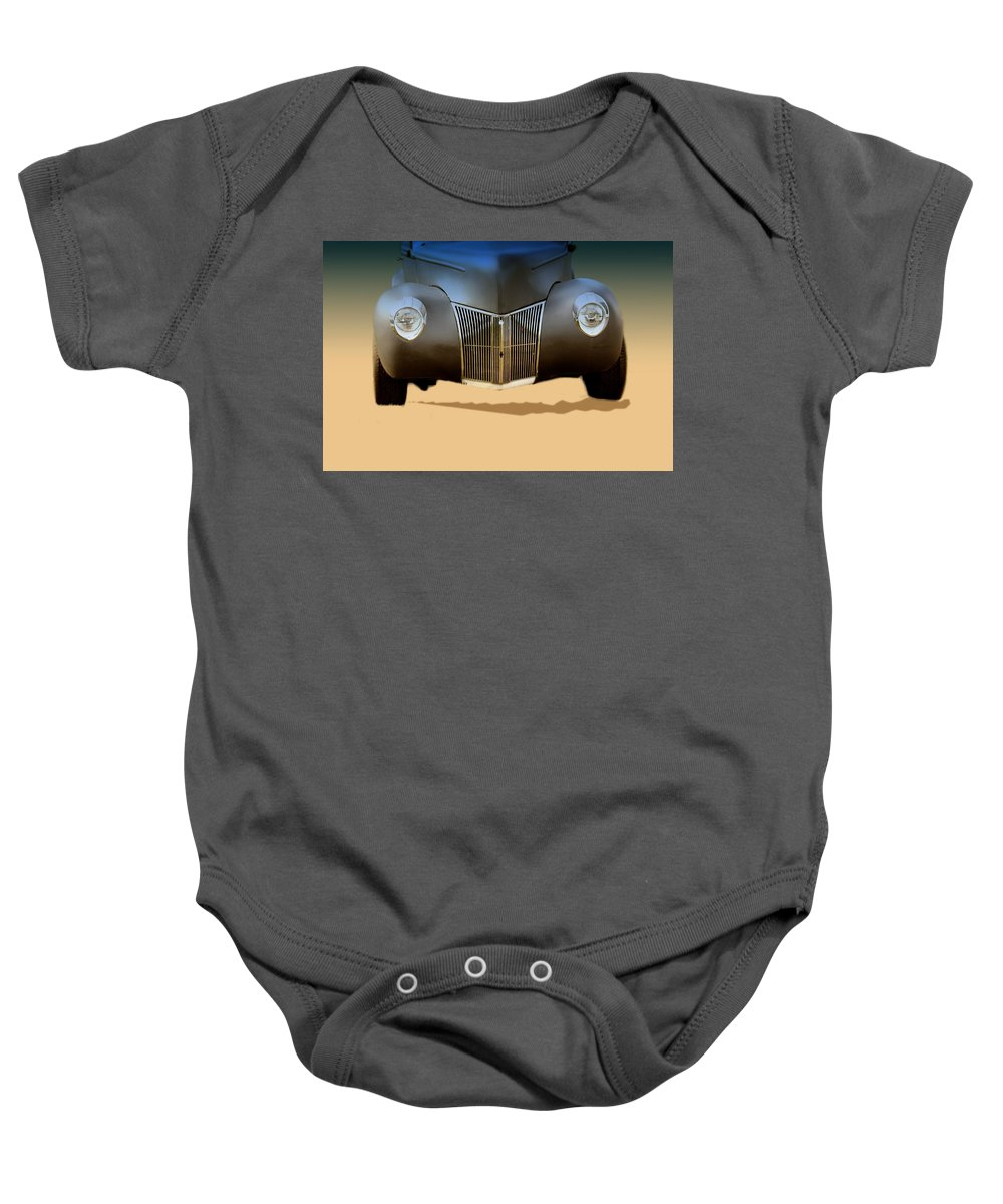 Wall Decor Baby Onesie featuring the photograph Drag Racing Anyone by Myrna Migala