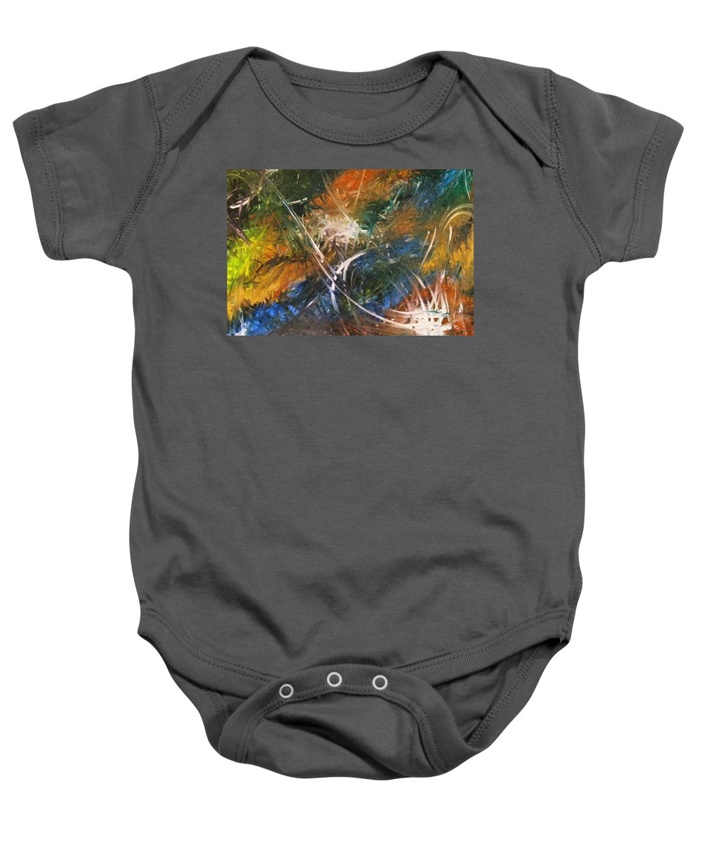 Dragon Baby Onesie featuring the painting Dragon by Kim Rahal