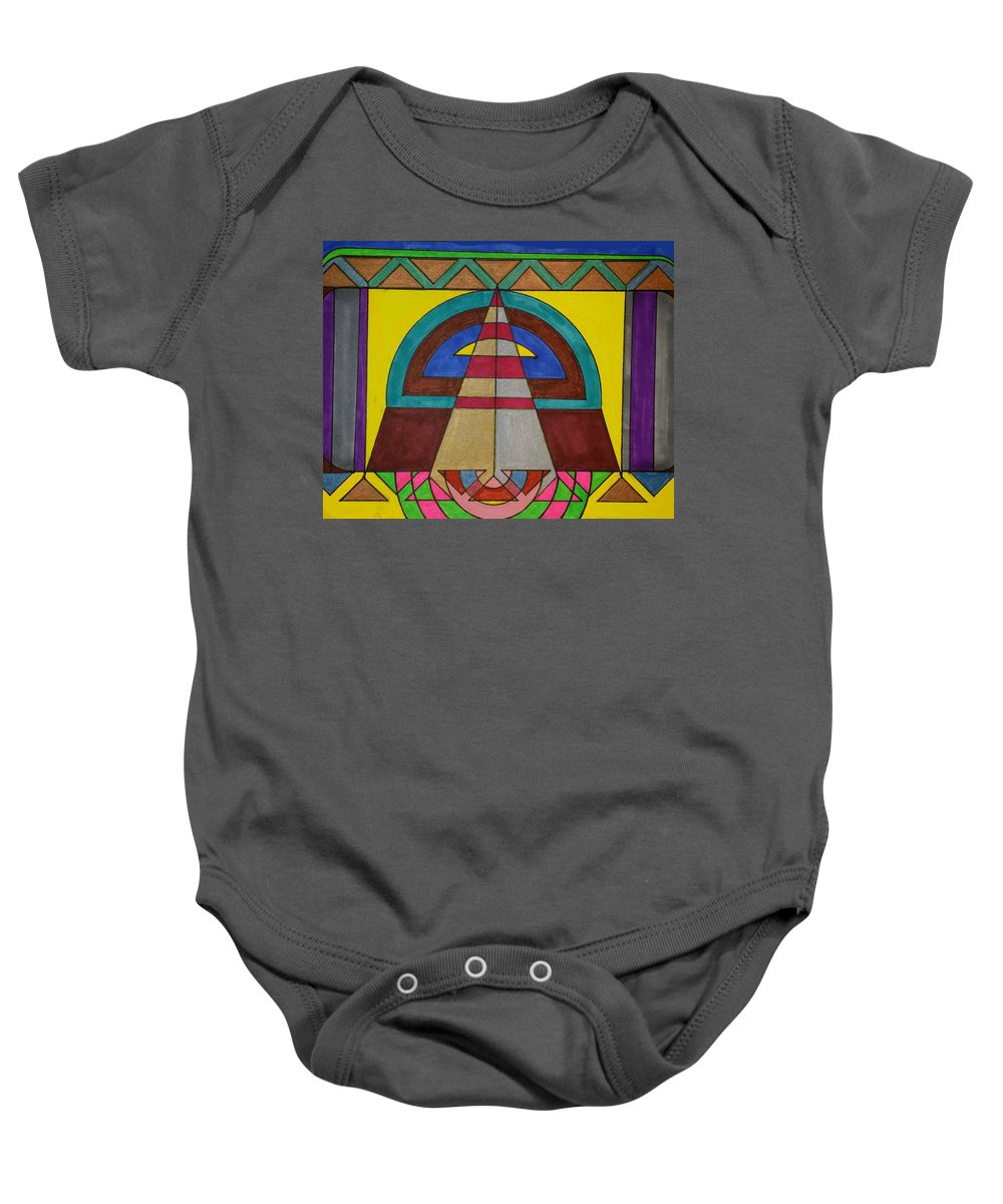Geometric Art Baby Onesie featuring the glass art Dream 68 by S S-ray