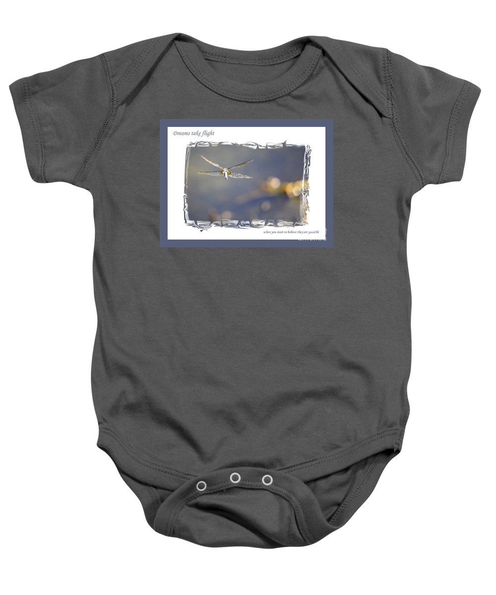 Greeting Cards Baby Onesie featuring the photograph Dreams Take Flight Poster Or Card by Carol Groenen