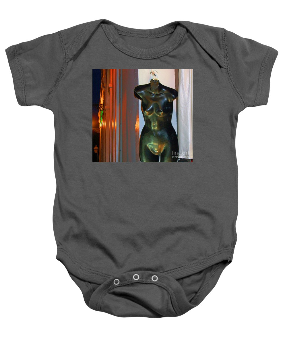 Mannequin Baby Onesie featuring the photograph Dress Is Less by Debbi Granruth