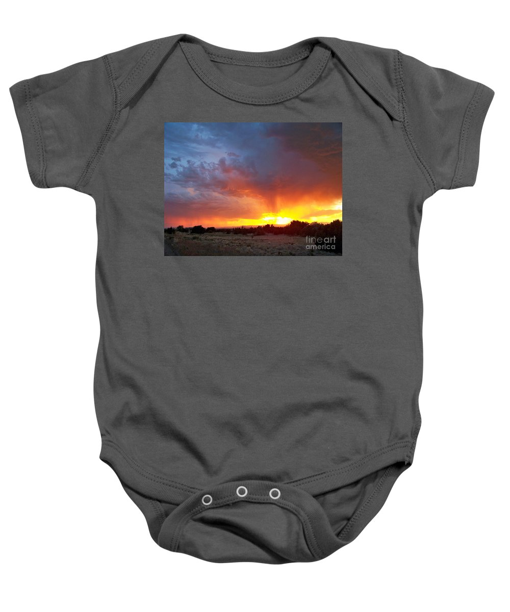 Sky Baby Onesie featuring the photograph Drink The Sky by Brian Commerford