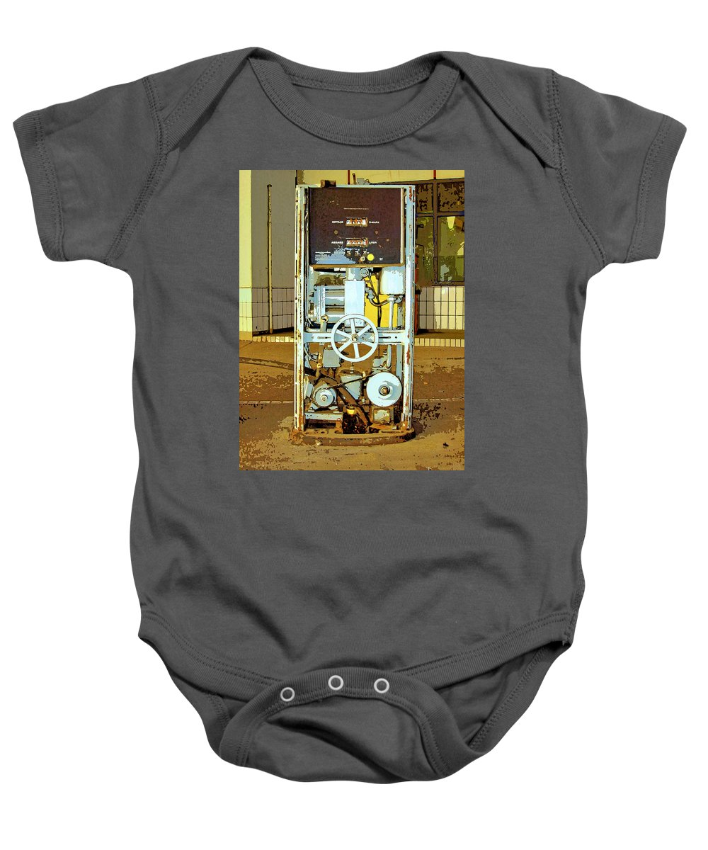 Droid Baby Onesie featuring the mixed media Droid 2 by Dominic Piperata
