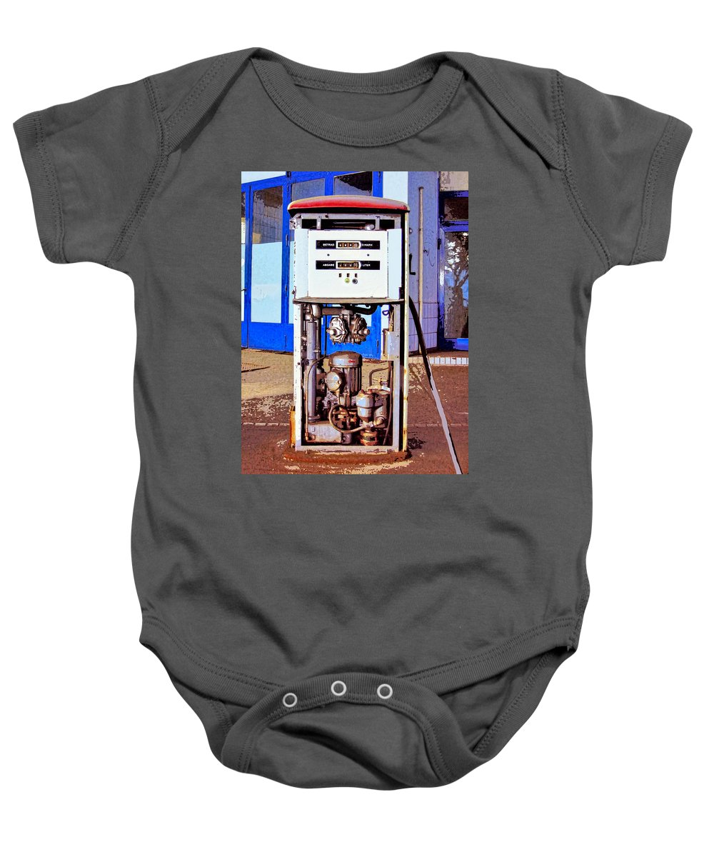 Droid Baby Onesie featuring the mixed media Droid 3 by Dominic Piperata
