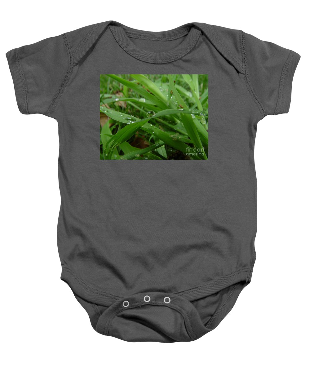 Water Droplet Baby Onesie featuring the photograph Droplets 01 by Peter Piatt