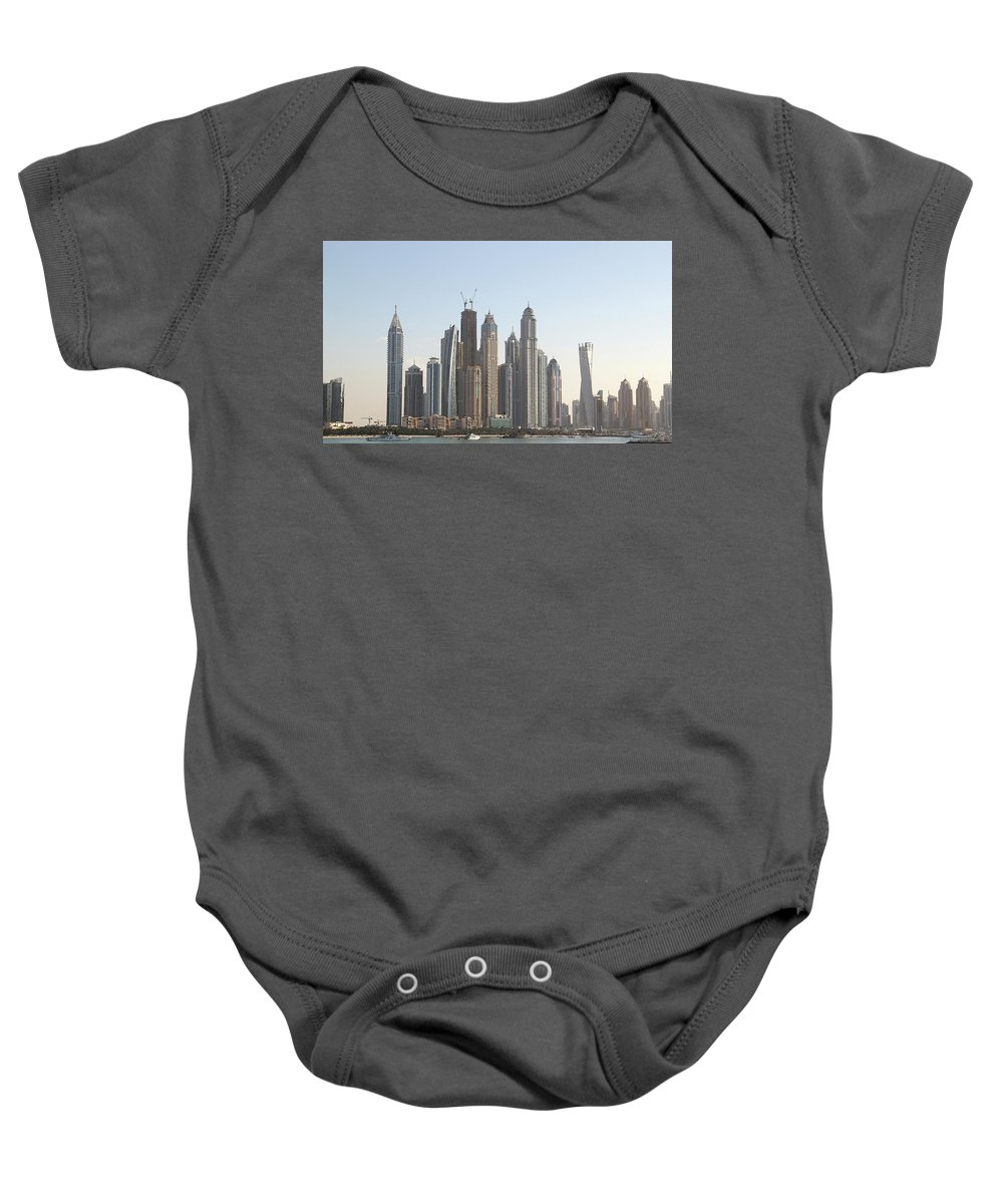 City Baby Onesie featuring the digital art Dubai City Skyline by Sandeep Gangadharan