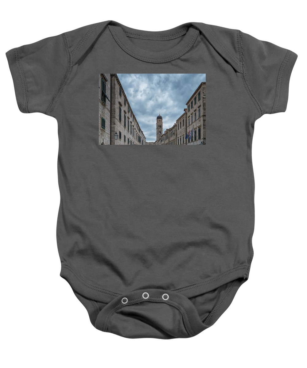 Croatia Baby Onesie featuring the photograph Stradun, Dubrovnik by Christopher Rees