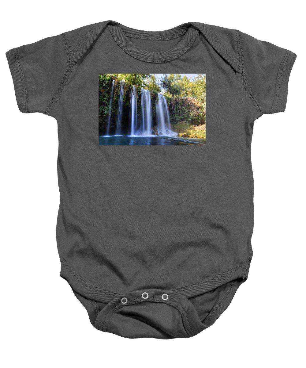 Duden Waterfall Baby Onesie featuring the photograph Duden Waterfall - Turkey by Joana Kruse