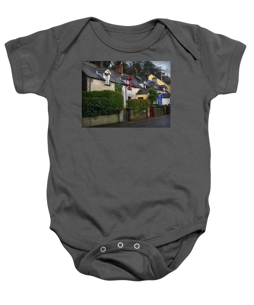 Ireland Baby Onesie featuring the photograph Dunmore Houses by Tim Nyberg