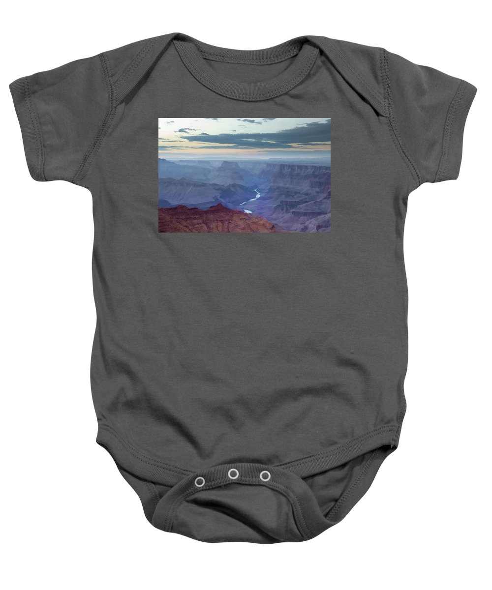 Grand Baby Onesie featuring the photograph Dusk At Desert View by Ricky Barnard