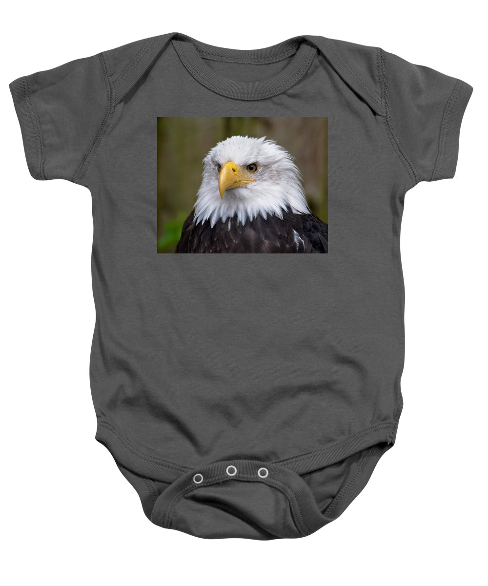 Eagle Baby Onesie featuring the photograph Eagle In Ketchikan Alaska by Michael Bessler