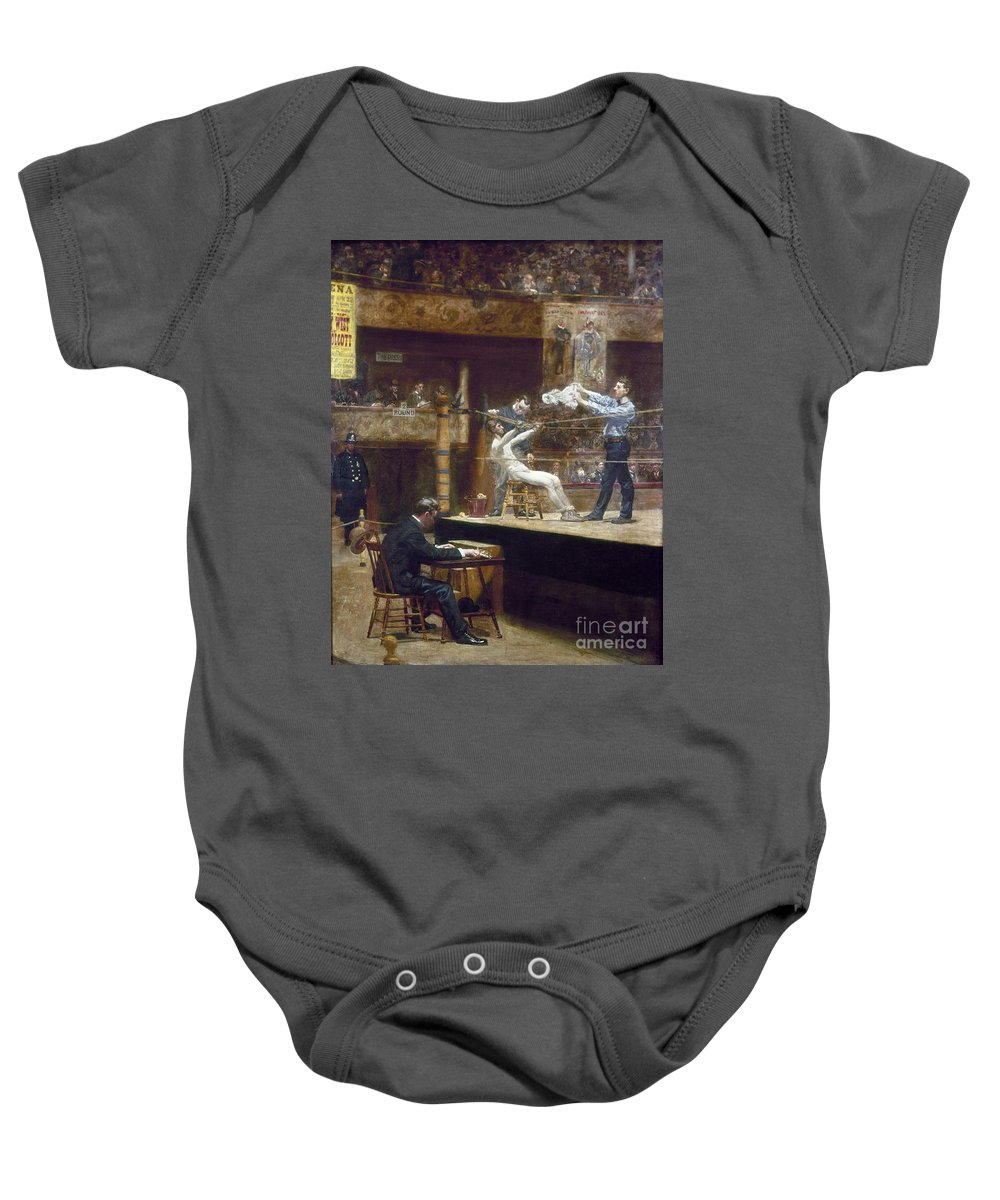 1899 Baby Onesie featuring the photograph Eakins: Between Rounds by Granger