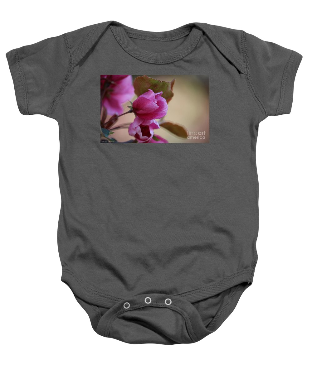 Flower Baby Onesie featuring the photograph Early Openings by Susan Herber