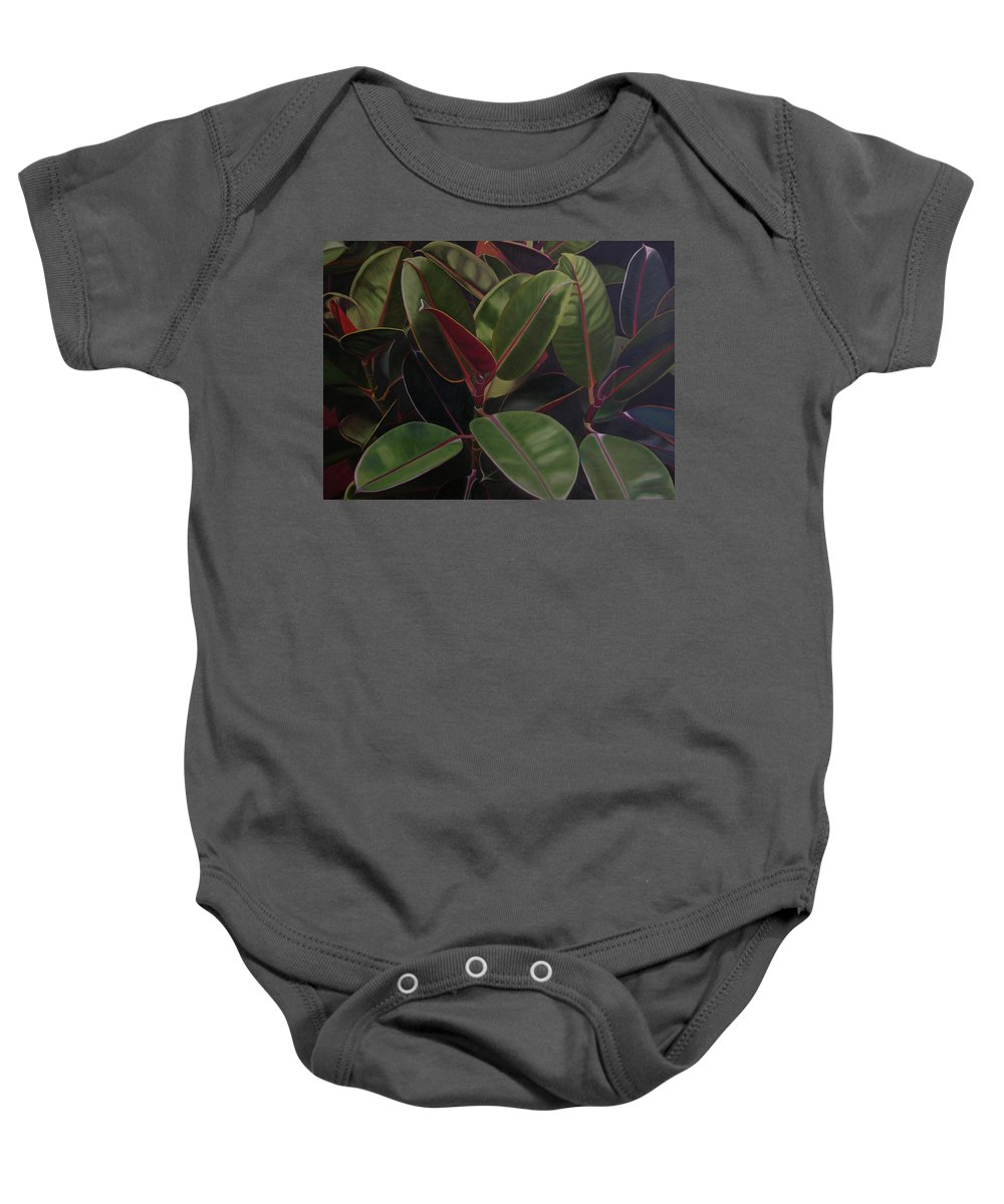 Landscape Baby Onesie featuring the painting Easter Sunday by Thu Nguyen