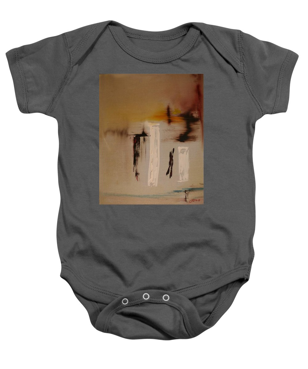 Abstract Baby Onesie featuring the painting Easy by Jack Diamond