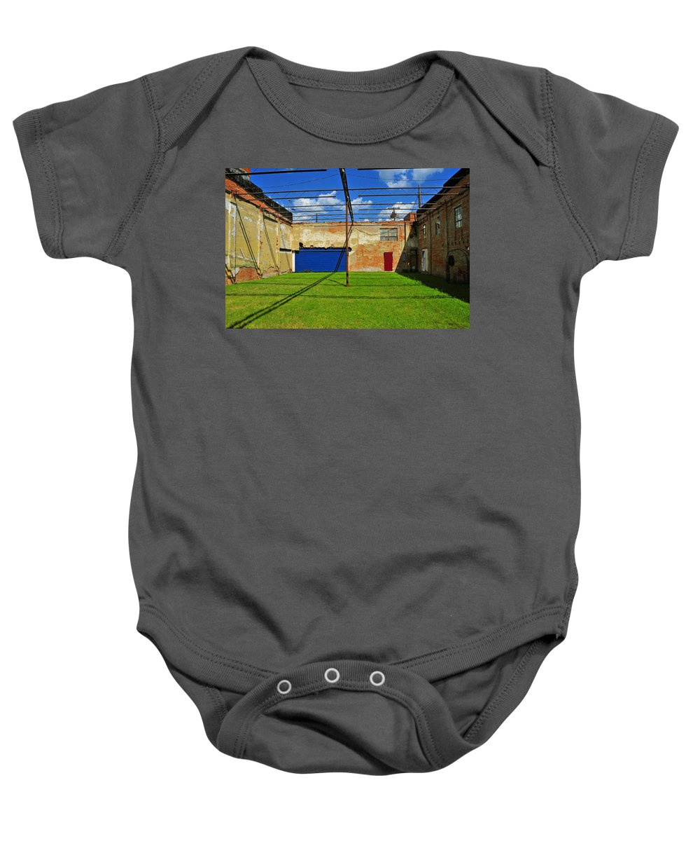 Skiphunt Baby Onesie featuring the photograph Eco-store by Skip Hunt