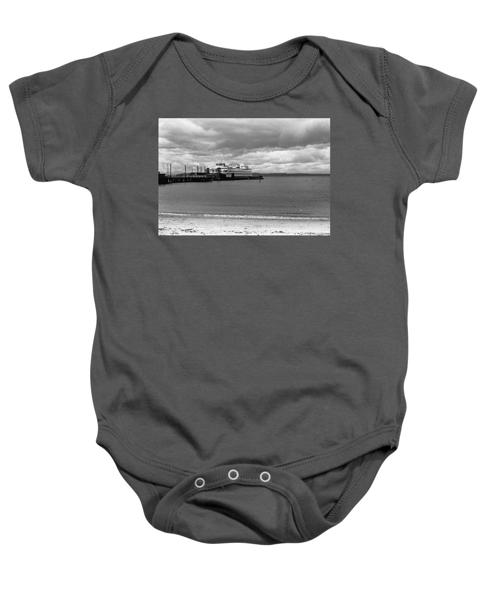 History Baby Onesie featuring the photograph Edmonds Ferry by Karen Ulvestad