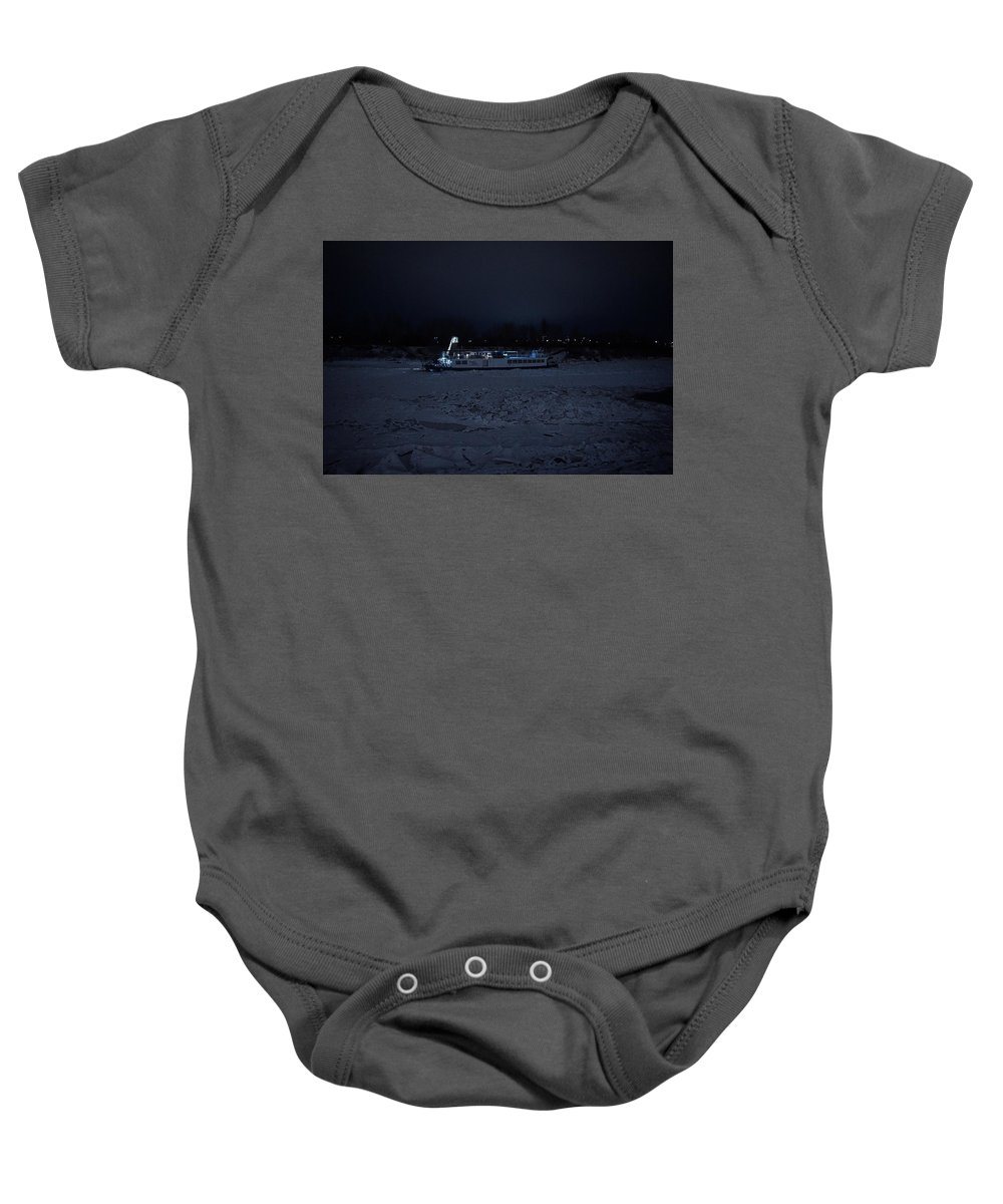 Ship Photograph Baby Onesie featuring the photograph Edmonton Queen Best In Ice - Winter by Desmond Raymond
