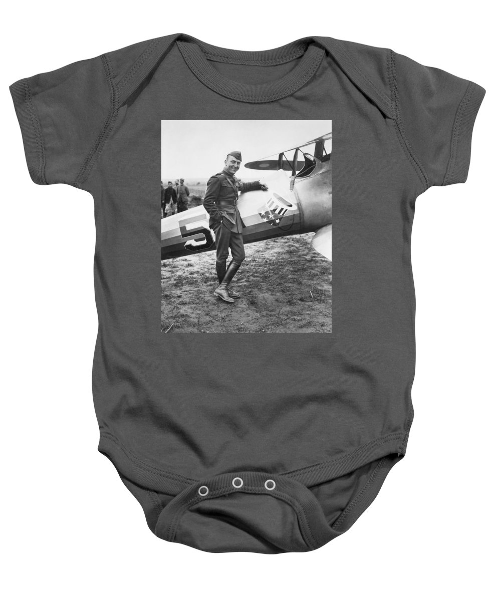 1918 Baby Onesie featuring the photograph Edward V. Rickenbacker by Granger