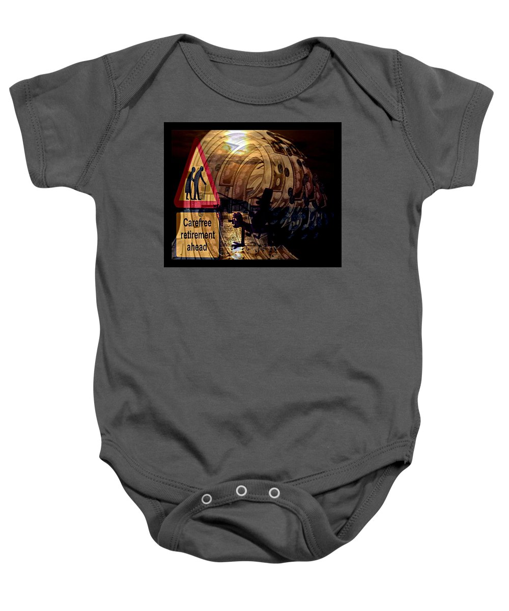 Election Ahead Baby Onesie featuring the digital art Election Ahead by Meiers Daniel