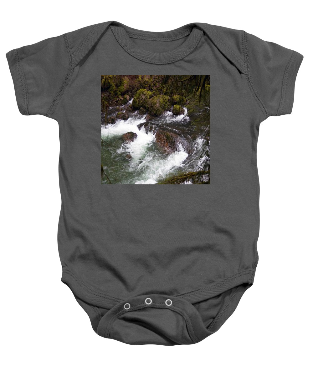 Clearwater Falls Baby Onesie featuring the photograph Elkhorn Creek 2 by Ingrid Smith-Johnsen