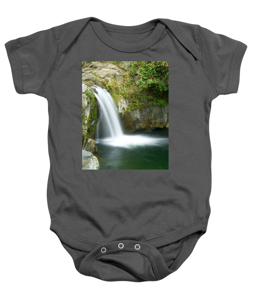 Waterfall Baby Onesie featuring the photograph Emerald Falls by Marty Koch