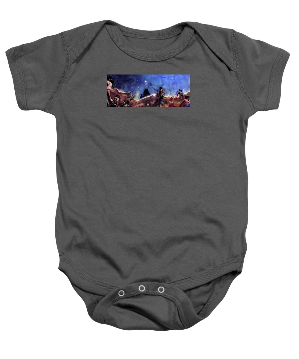 Nebula Baby Onesie featuring the photograph Emily's Ridge Walk by Dave Martsolf