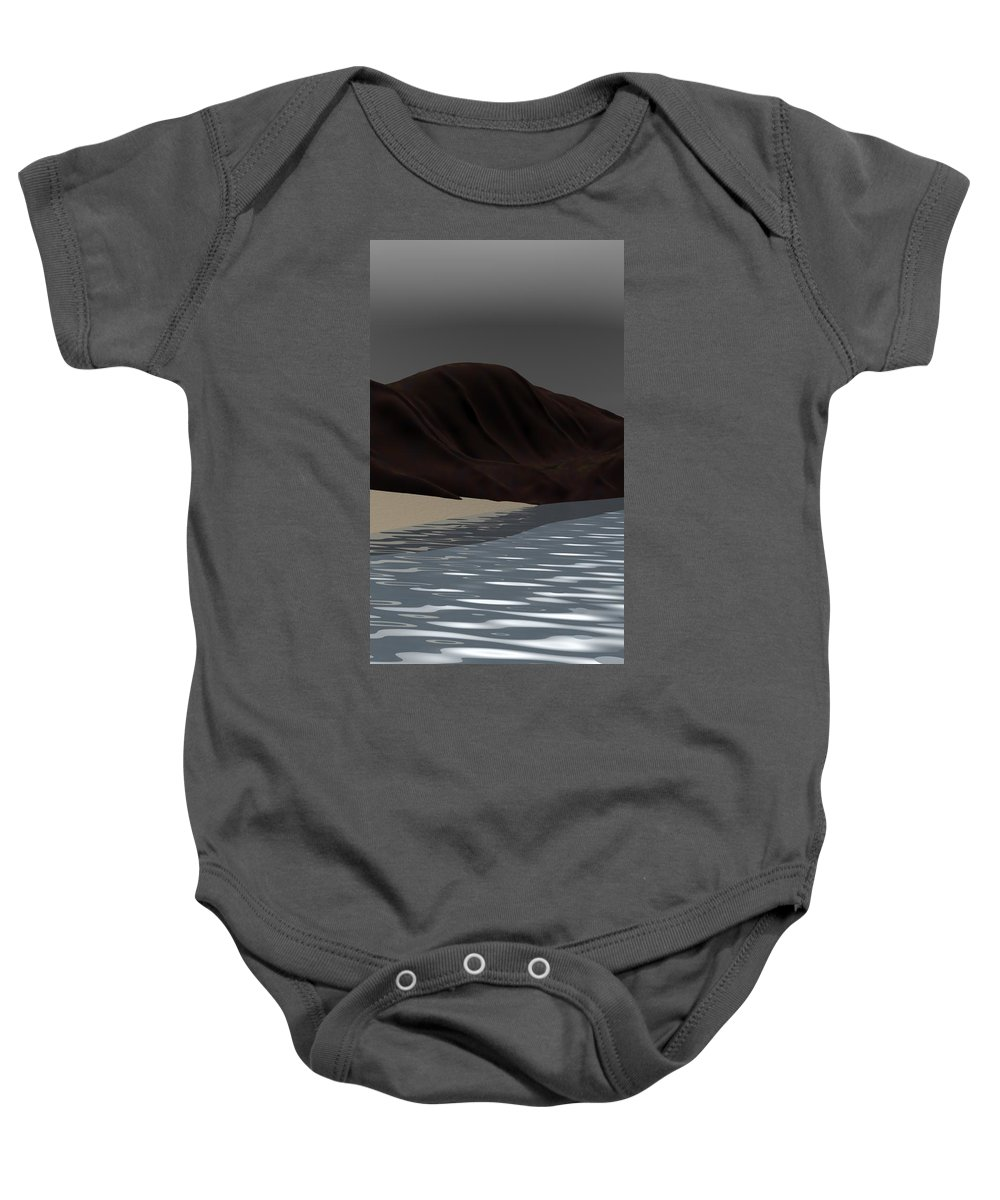 Abstract Baby Onesie featuring the digital art Emotion by David Lane