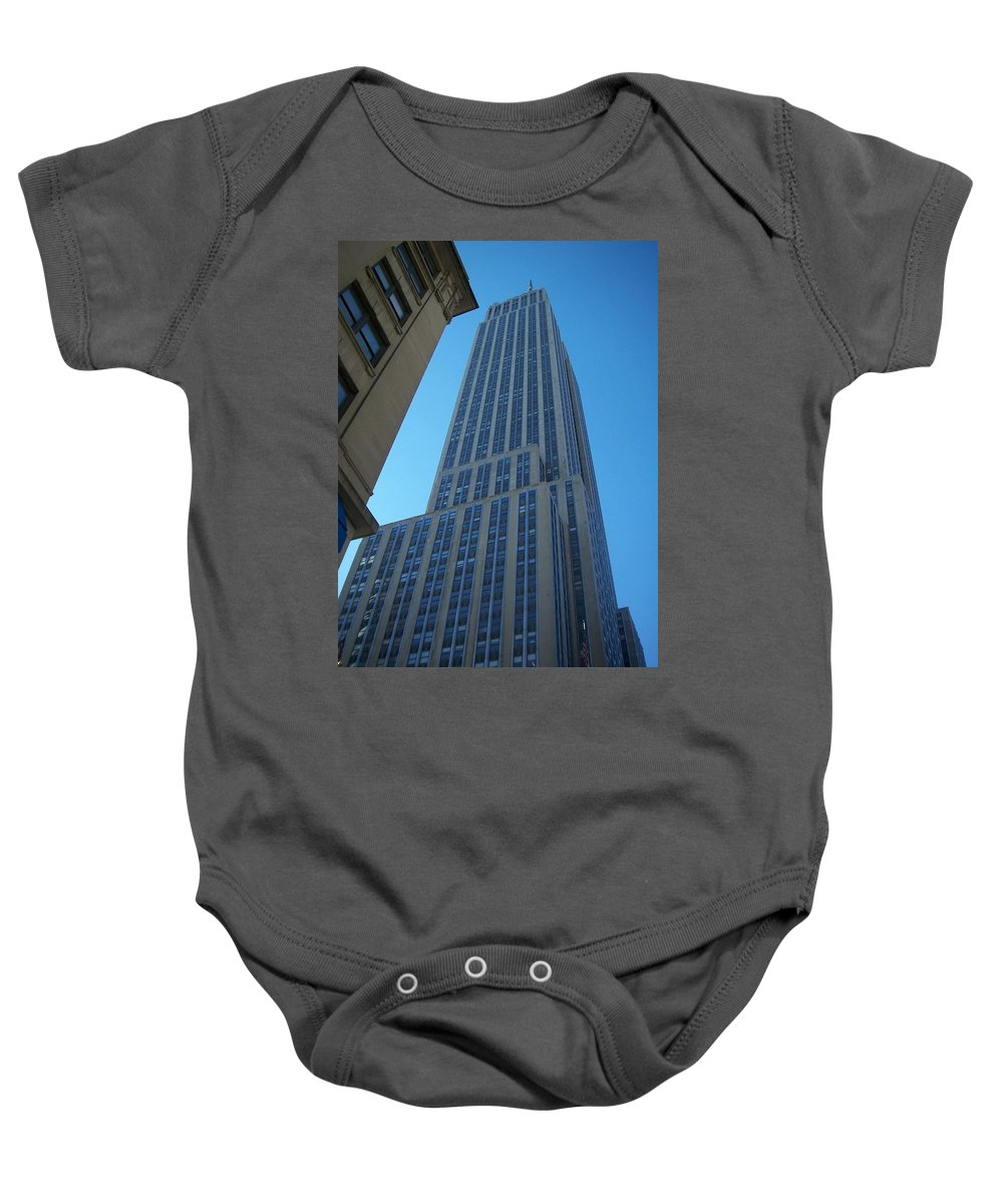 Emoire State Building Baby Onesie featuring the photograph Empire State 2 by Anita Burgermeister