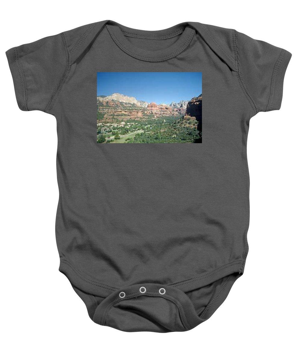 Sedona Baby Onesie featuring the photograph Enchantment Resort Sedona Arizona by Gary Wonning