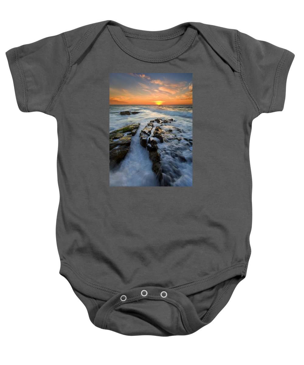 Sunset Baby Onesie featuring the photograph Engulfed by Mike Dawson