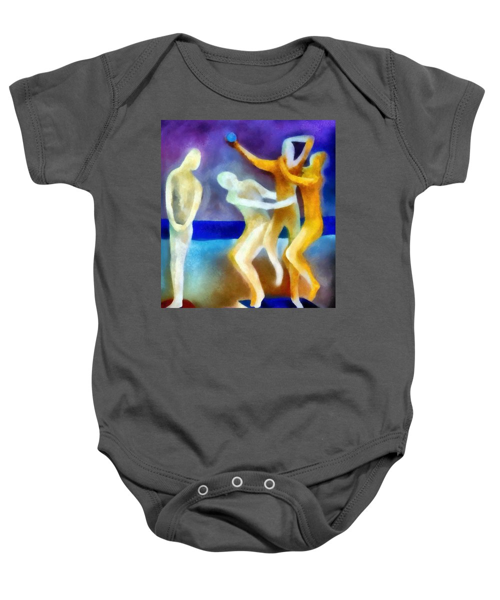 Envy Baby Onesie featuring the painting Envy by Michelle Calkins