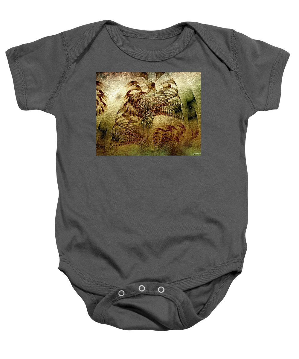 Abstract Baby Onesie featuring the digital art Epoch by Casey Kotas
