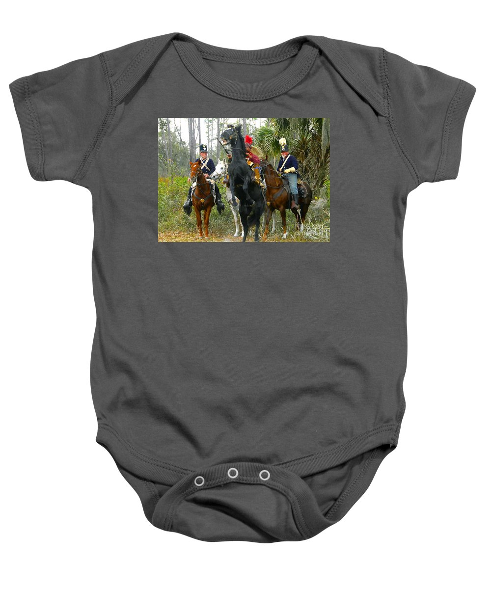 Seminole Indians Baby Onesie featuring the photograph Escape Of Billy Bowlegs by David Lee Thompson