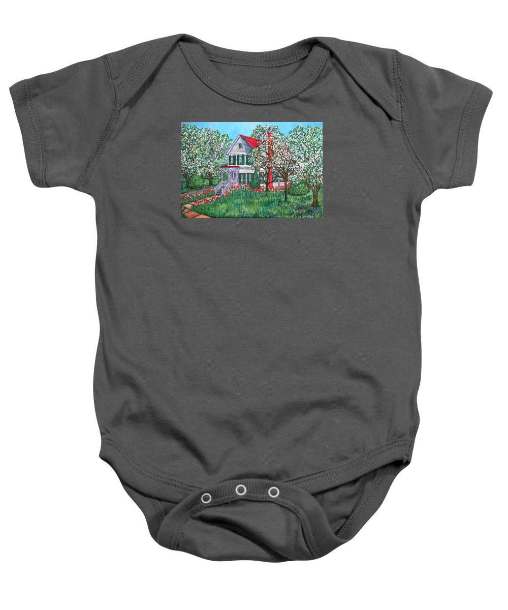 Home Baby Onesie featuring the painting Esther's Home by Kendall Kessler