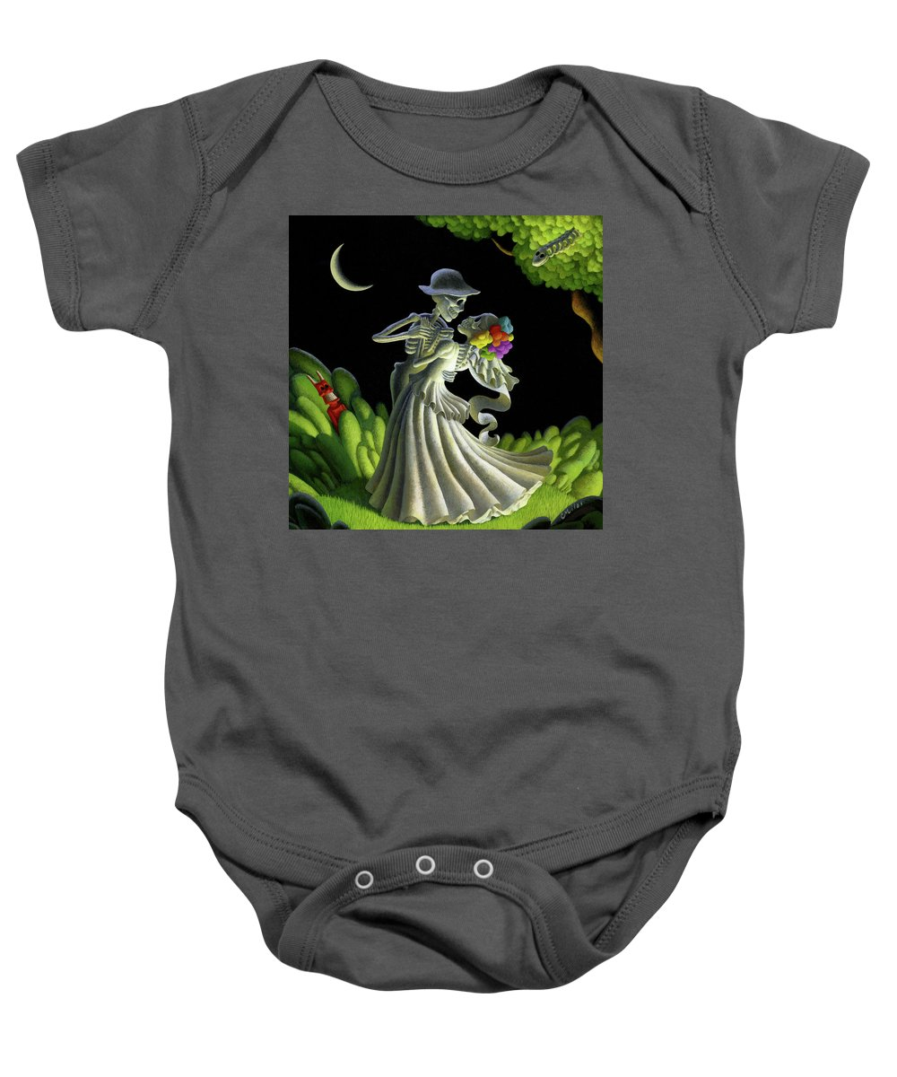 Wedding Baby Onesie featuring the painting Eternal Love by Chris Miles