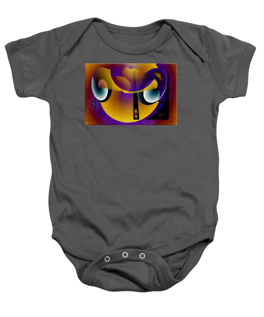 Eternity Baby Onesie featuring the digital art Eternity Clock by Helmut Rottler