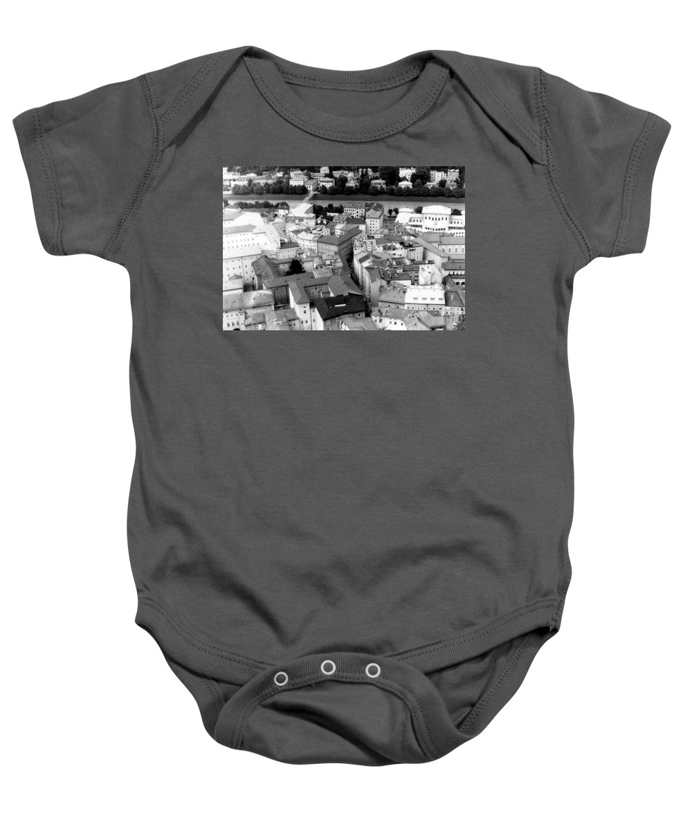 Rofftops Baby Onesie featuring the photograph European Rooftops by Michelle Calkins