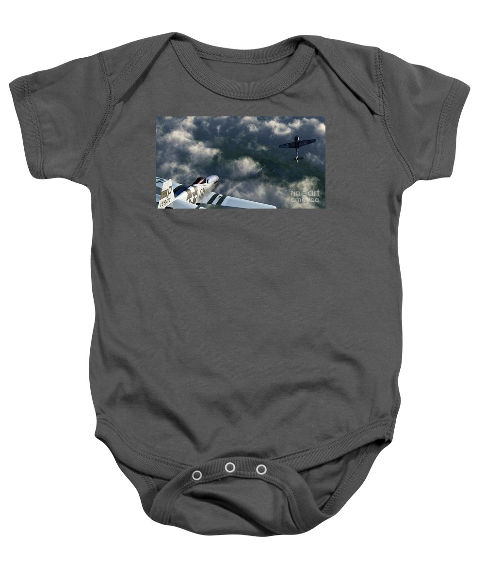Warbirds Baby Onesie featuring the digital art Evade by Richard Rizzo
