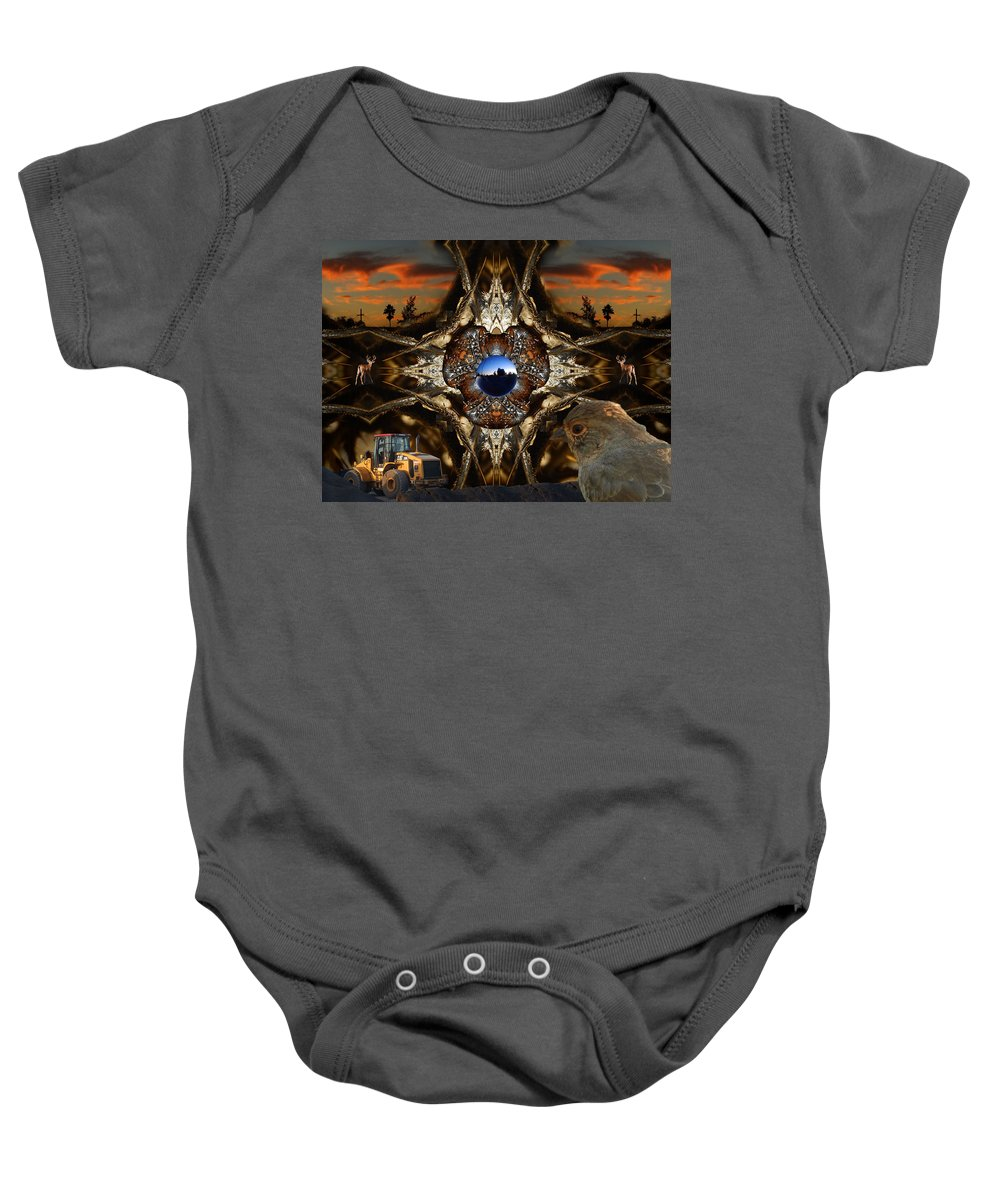 Nature Baby Onesie featuring the digital art Even Near The End Sunsets Are Still Beautiful by Glen Faxon