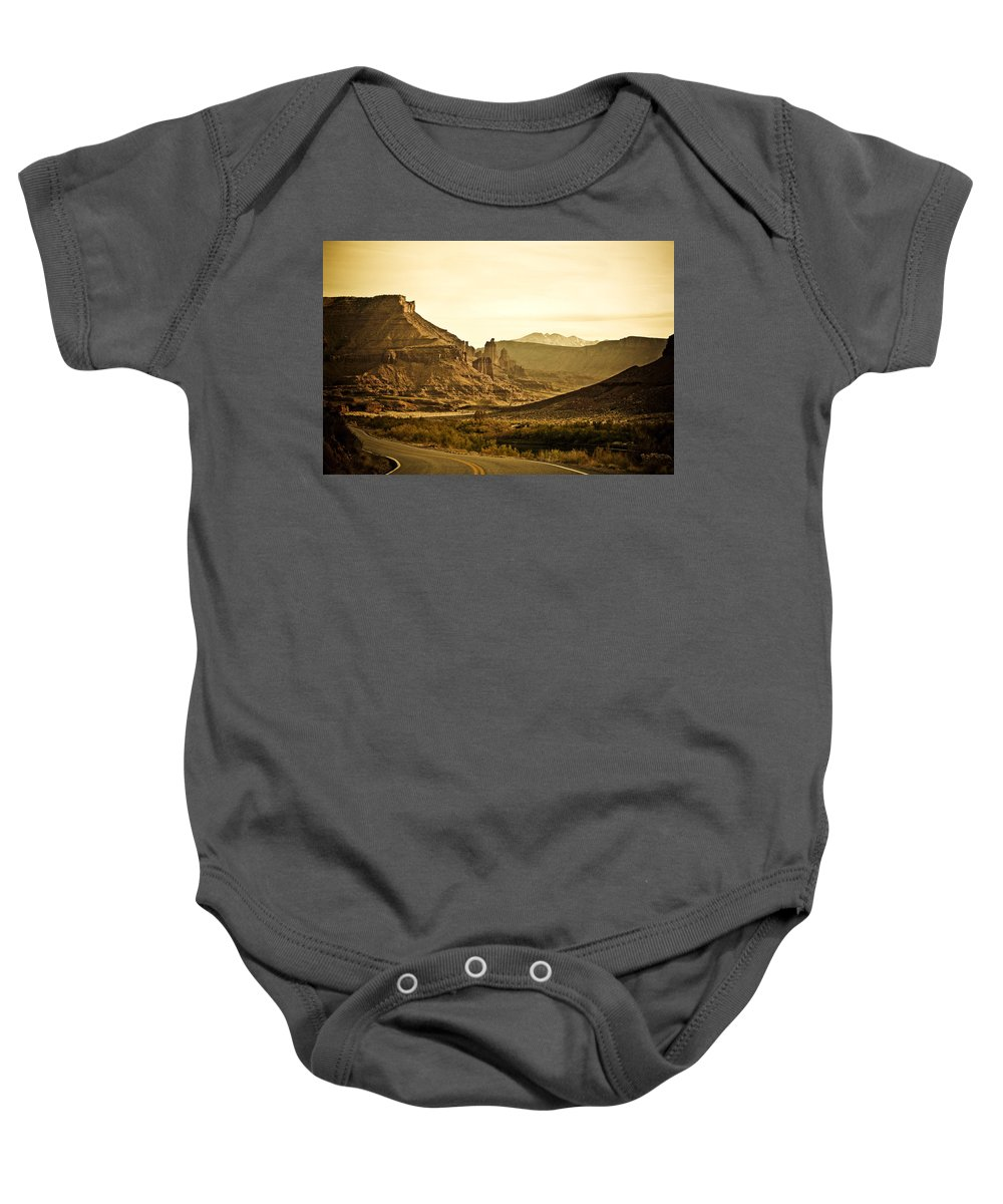 Americana Baby Onesie featuring the photograph Evening In The Canyon by Marilyn Hunt