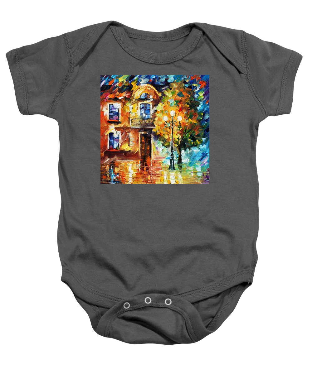 Afremov Baby Onesie featuring the painting Evening New Original by Leonid Afremov