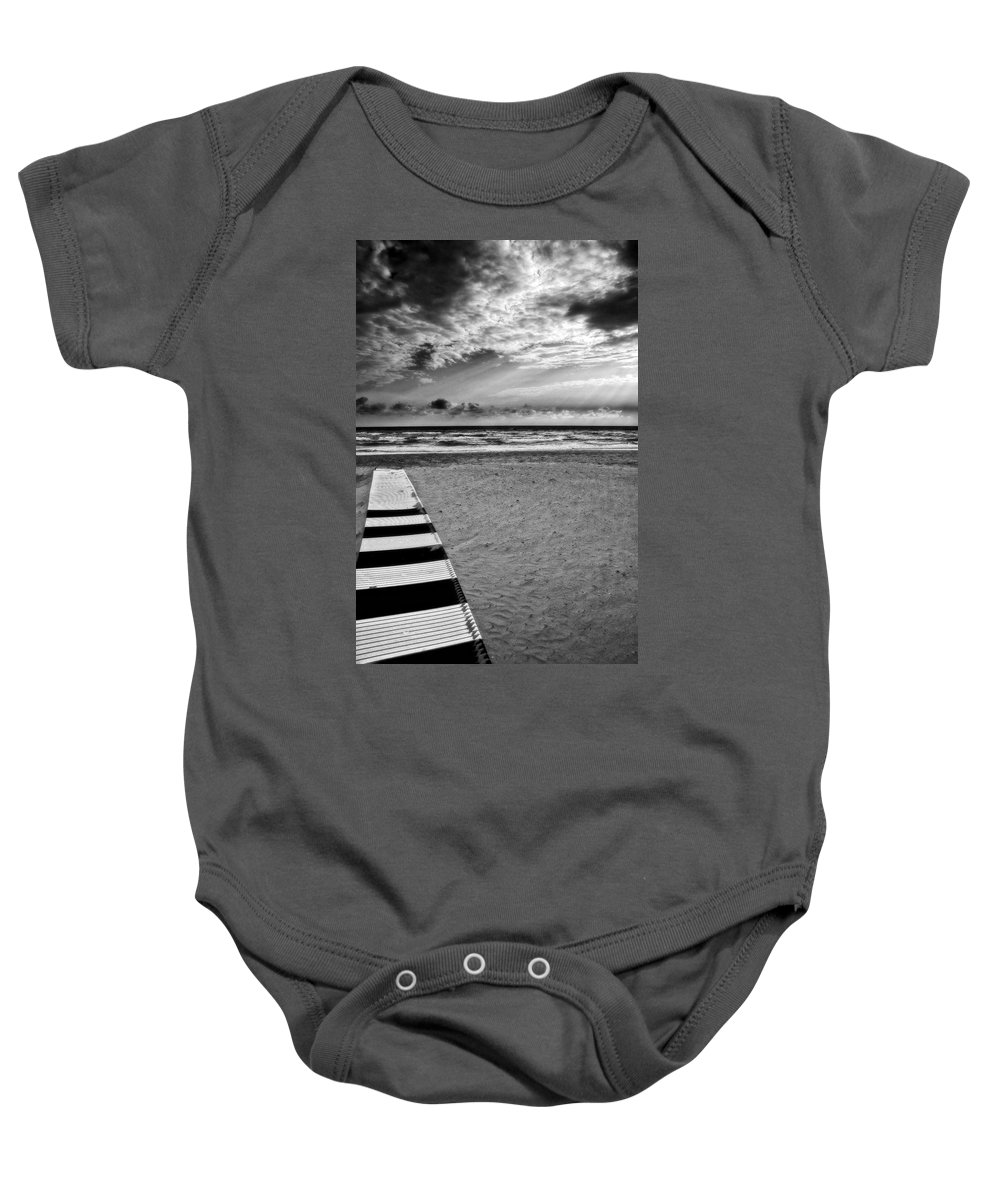 Landscape Baby Onesie featuring the photograph Evening Tide by Silvia Ganora