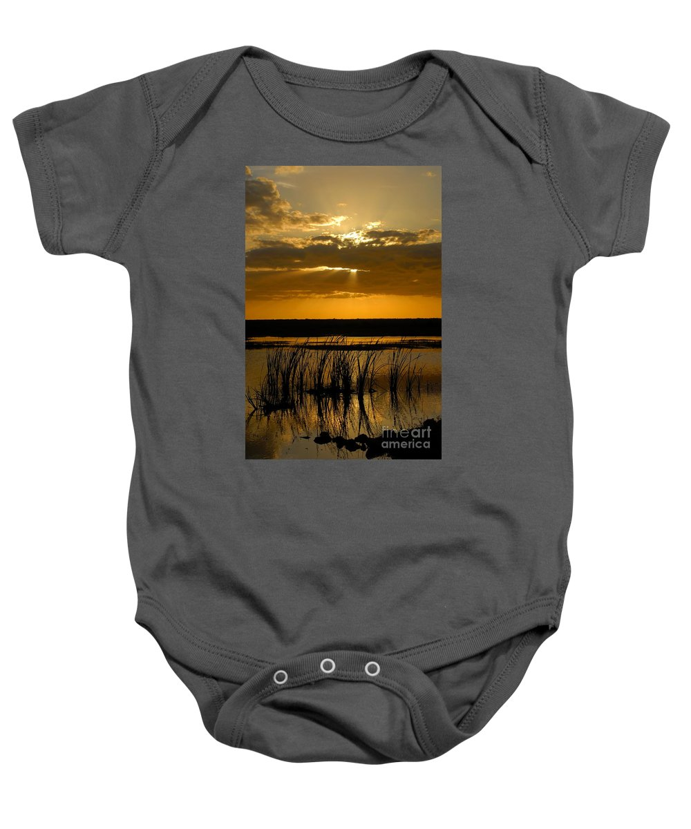 Everglades National Park Florida Baby Onesie featuring the photograph Everglades Evening by David Lee Thompson