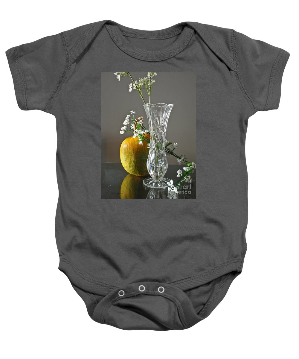 Still Life Baby Onesie featuring the photograph Everlasting Harvest by Shelley Jones