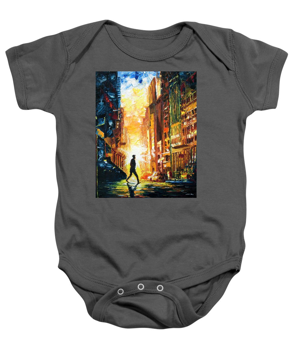 City Baby Onesie featuring the painting Everybody Knows, Vol. 2 by Nelson Ruger