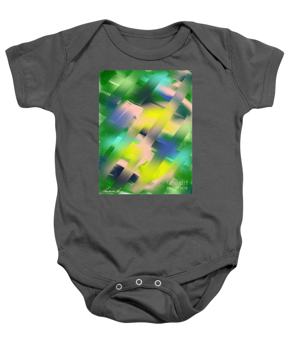 Abstract Baby Onesie featuring the painting Everything Matters by Frances Ku